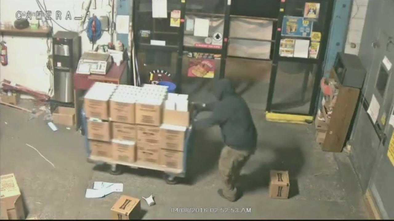 VIDEO: Burglars steal $64K worth of cigarettes from warehouse