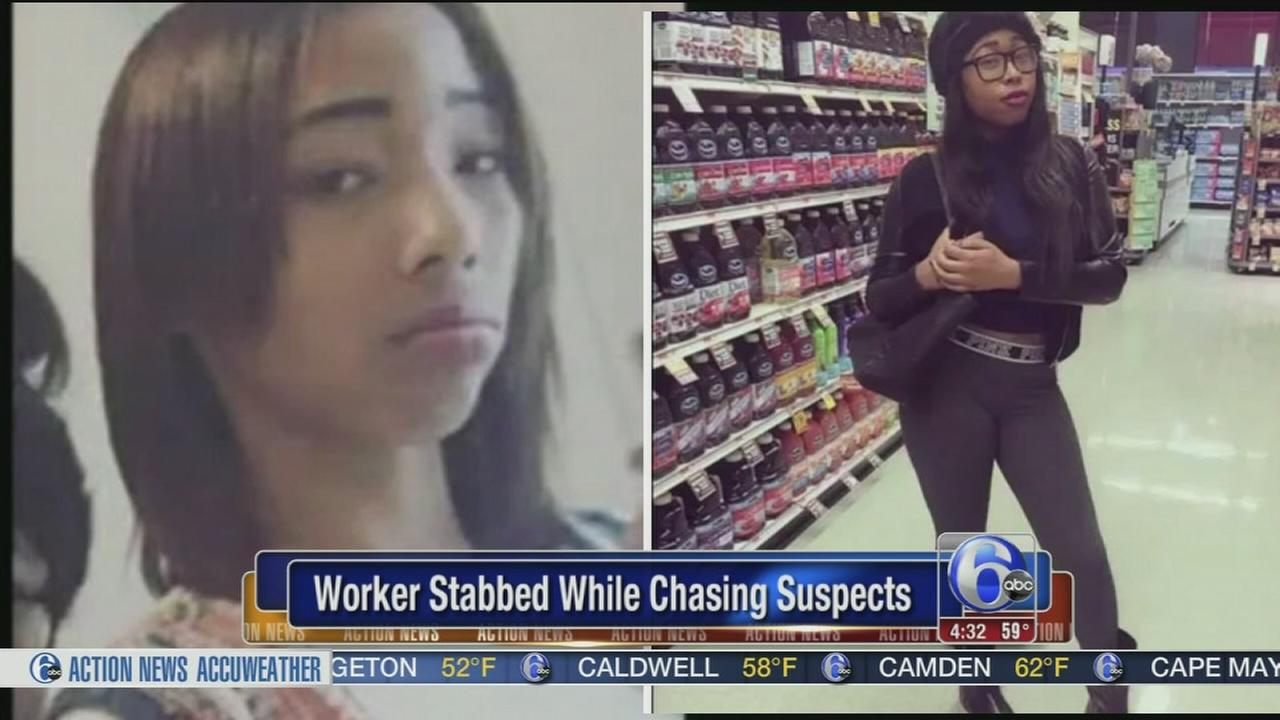 VIDEO: Worker stabbed while chasing suspects