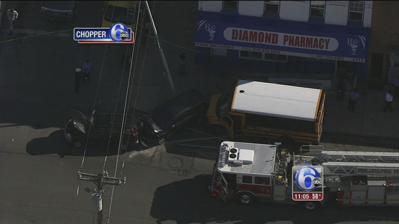 VIDEO: School bus crash in North Philadelphia