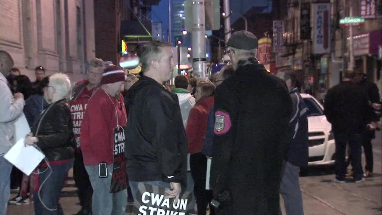 April 13, 2016: About 2,000 union workers went on strike at 6 a.m. amid a contract dispute with Verizon.
