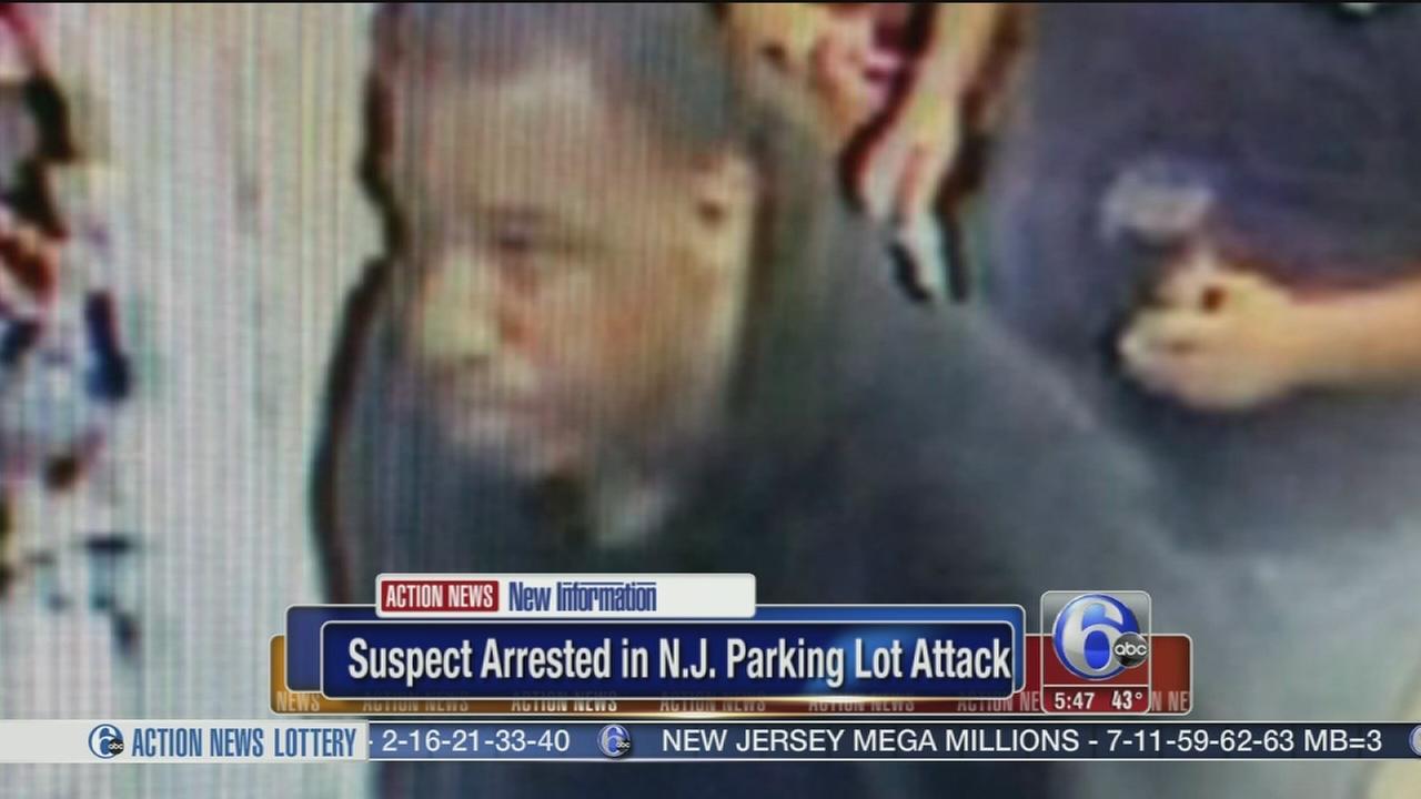 VIDEO: Arrest in NJ parking lot attack
