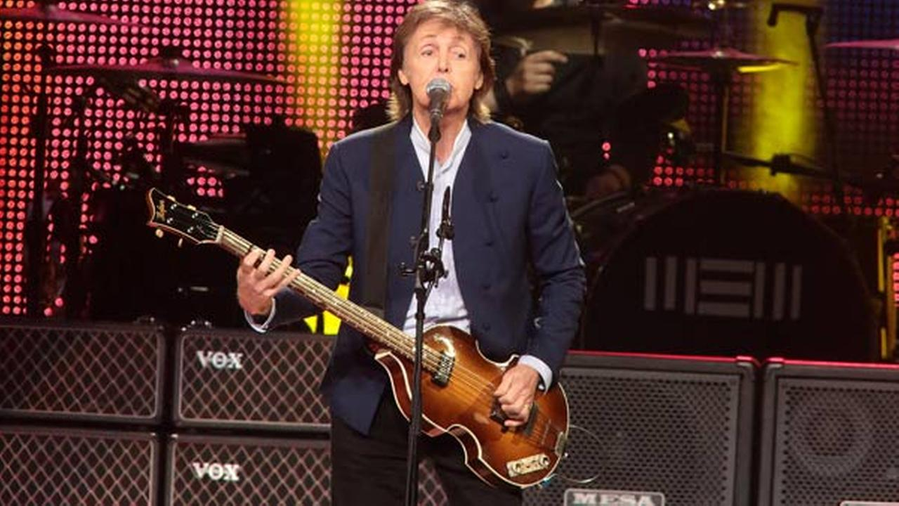 Paul McCartney performs in concert during his Out There Tour 2015 at the Wells Fargo Center on Sunday, June 21, 2015, in Philadelphia.Photo by Owen Sweeney/Invision/AP