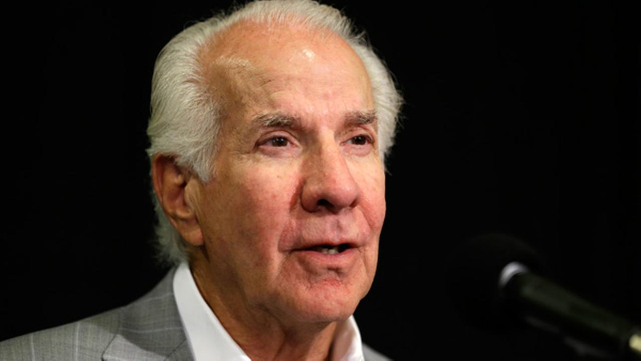 Philadelphia Flyers chairman Ed Snider speaks during a news conference, Tuesday, July 9, 2013, in Philadelphia. during a news conference, Tuesday, July 9, 2013, in Philadelphia.