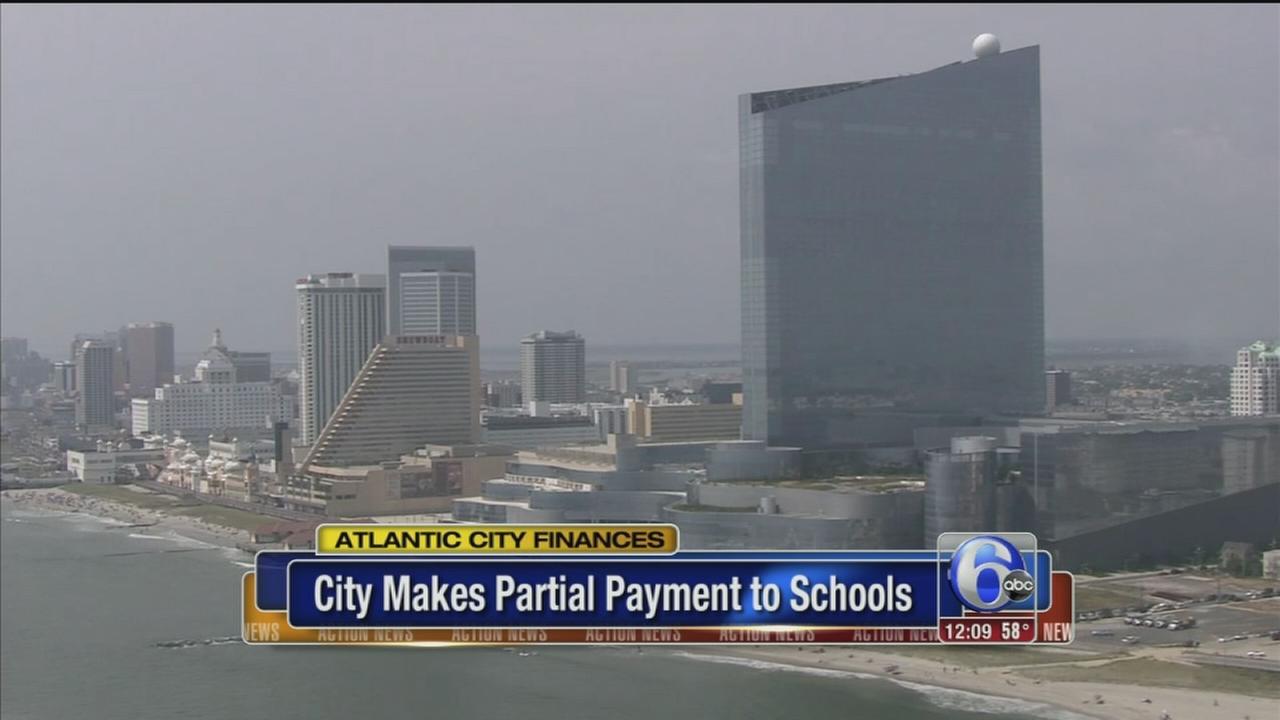 VIDEO: Atlantic City makes partial payment to schools