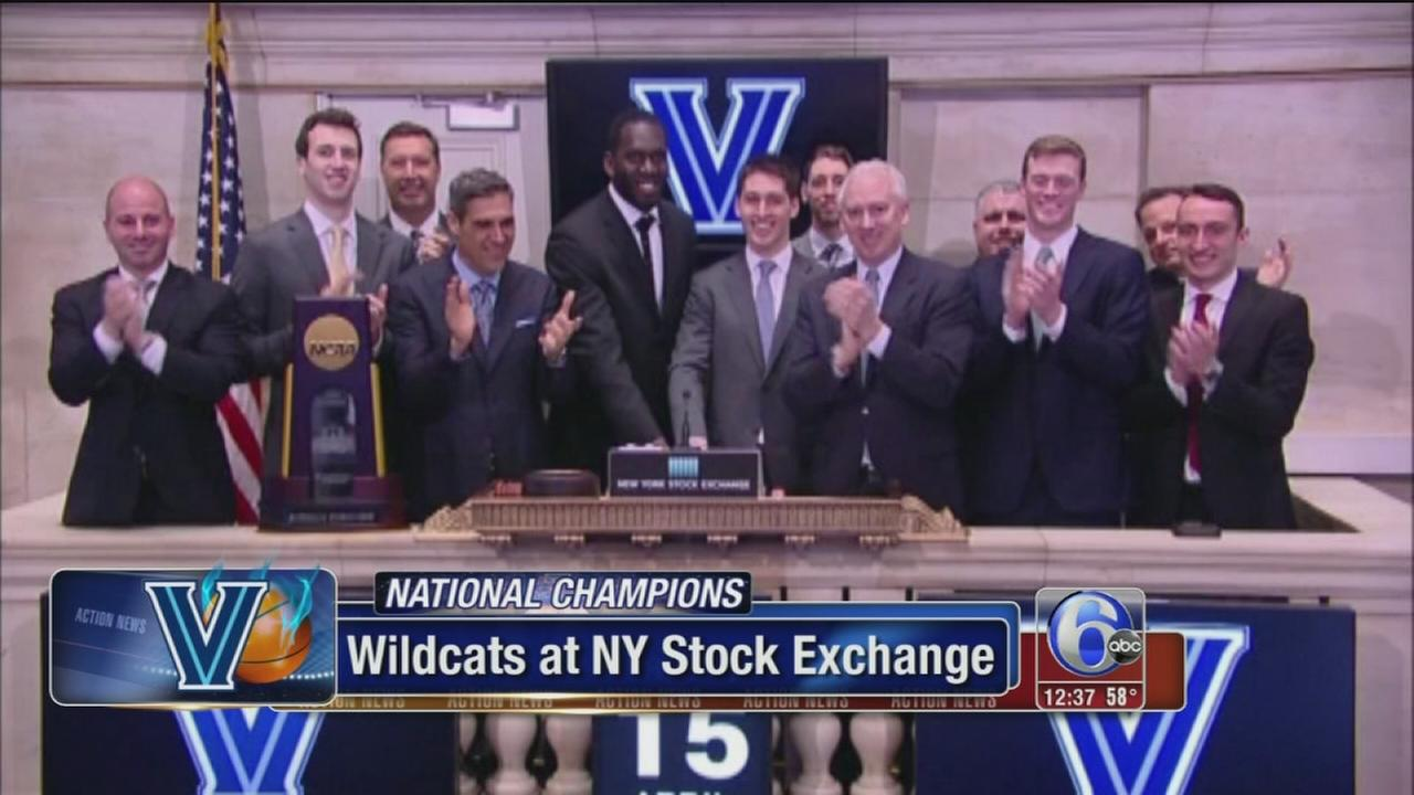 VIDEO: Villanova Wildcats ring opening bell at NYSE
