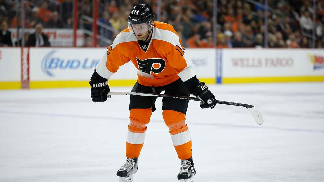 Flyers' Couturier out of Capitals series with injury