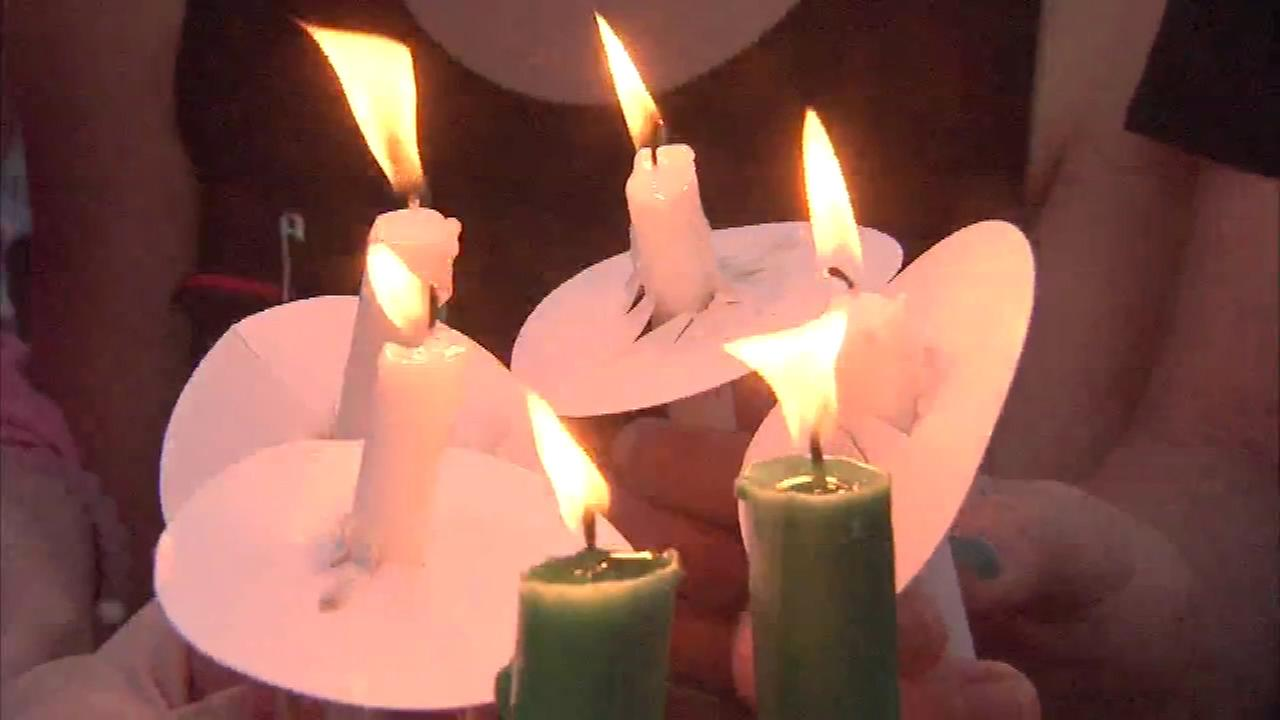A vigil for Dr. Steven Mayer, superintendent of schools in Robbinsville, New Jersey, who was struck and killed by a 17-year-old driver, a student at the local high school.