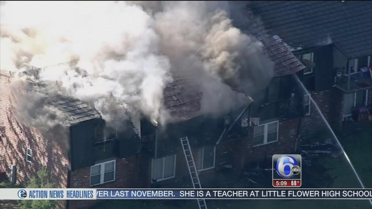 VIDEO: 2-alarm apartment building blaze in Delran