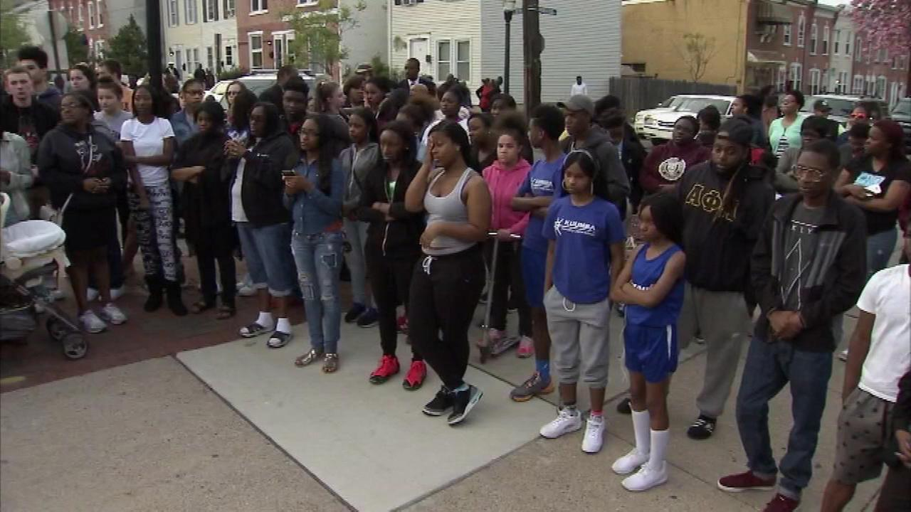 April 21, 2016: Hundreds gathered outside the Howard High School of Technology in Wilmington to remember 16-year-old Amy Joyner.
