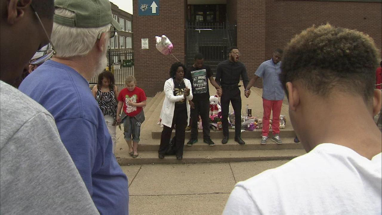 A vigil was held Friday for 16-year-old Amy Joyner-Francis in Wilmington, Delaware.
