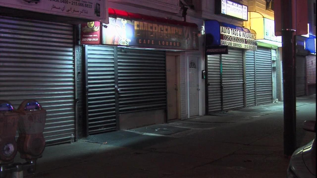 Police investigate a deadly shooting outside a North Philadelphia lounge.