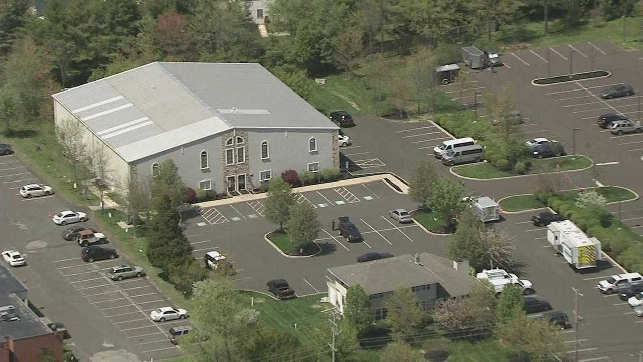 VIDEO: Chopper 6 over North Wales church