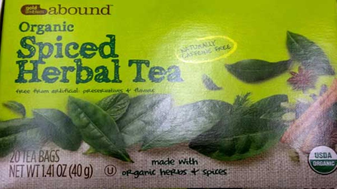 CVS Pharmacy is recalling spiced herbal tea because one of the ingredients is potentially contaminated with Salmonella.