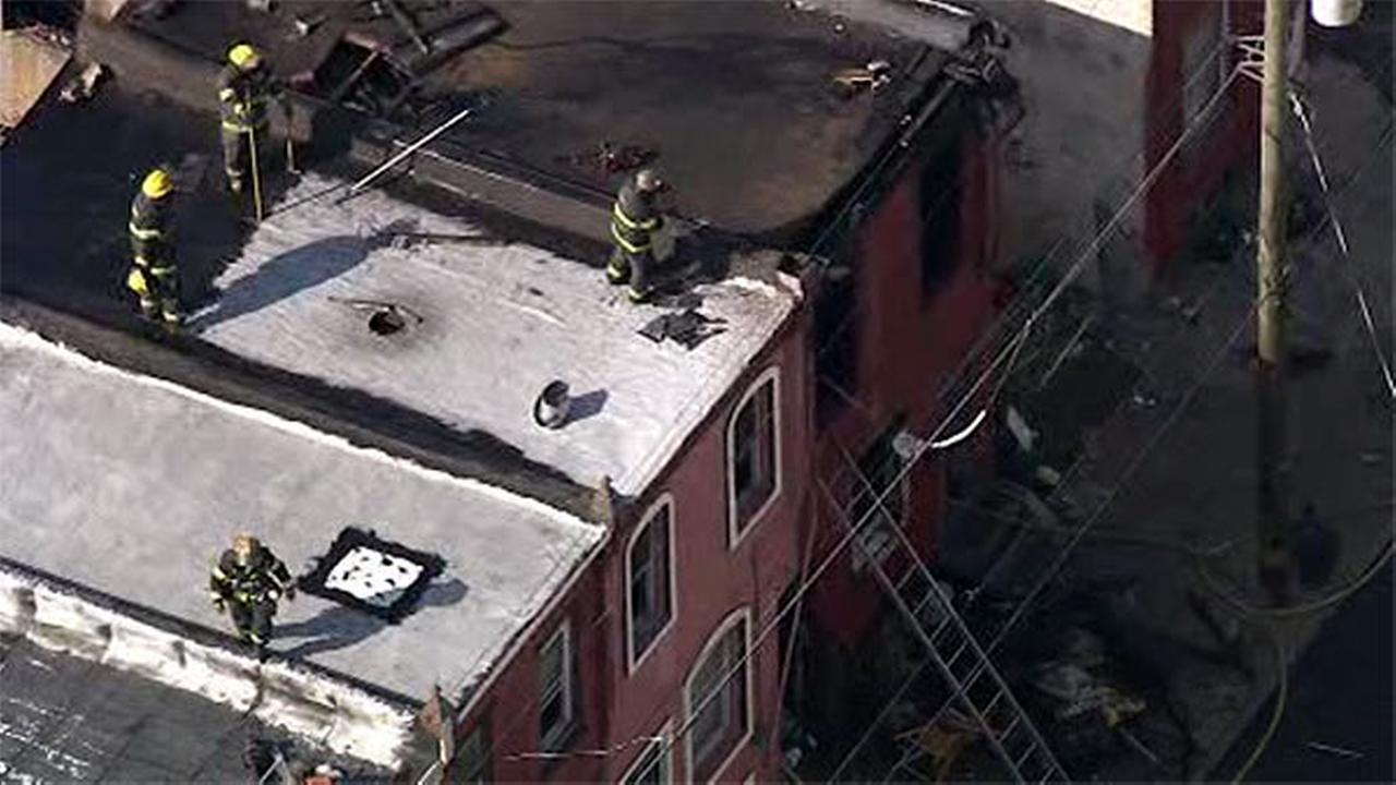 Woman hurt jumping from burning home in North Philadelphia