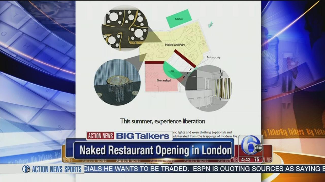 VIDEO: Naked restaurant opening in London