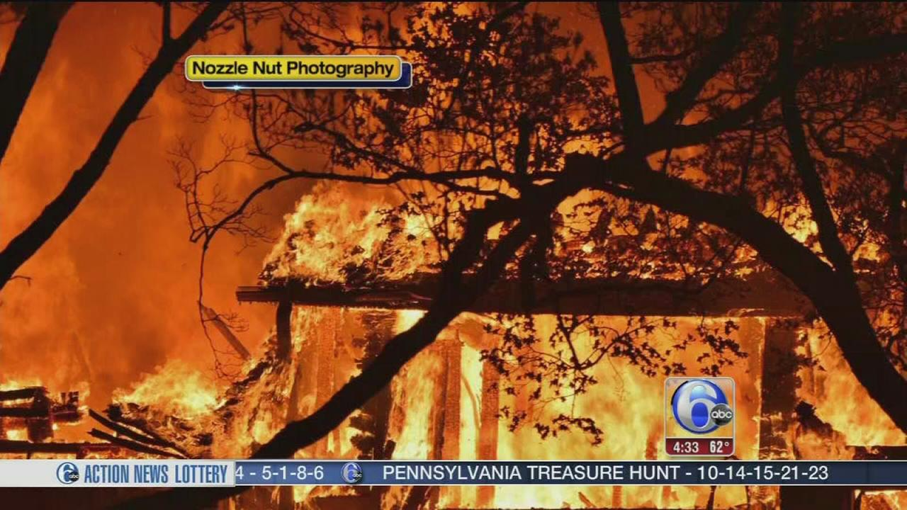 VIDEO: Multi-alarm fire damages house in Delco
