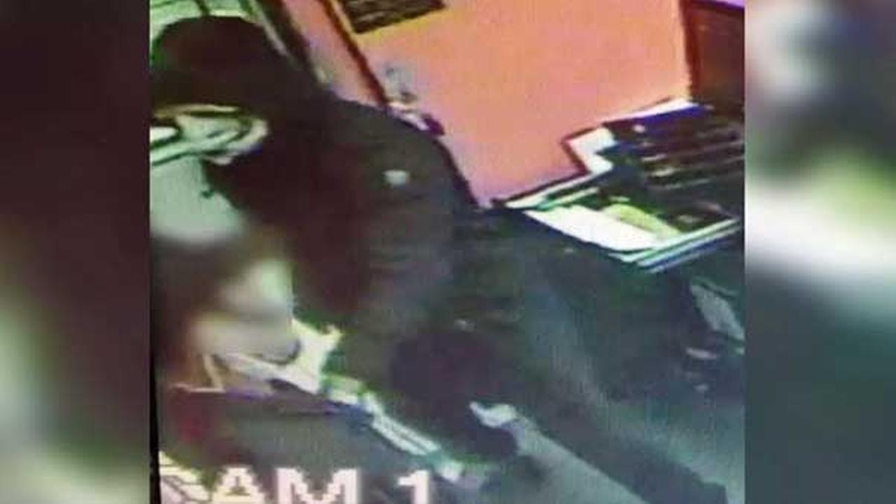 Pictured: One of two masked suspects who robbed a Pizza Hut at gunpoint on the 2900 block of North Broad Street in North Philadelphia on April 12.