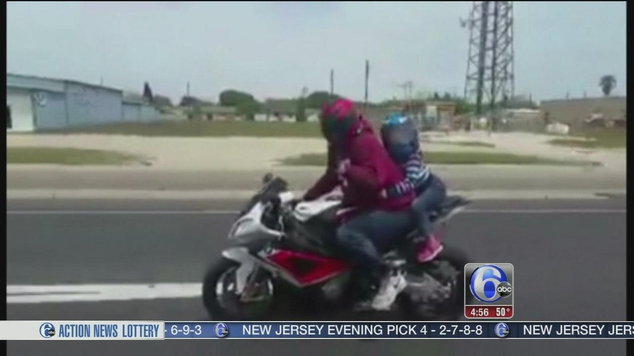 VIDEO: Mom shamed for letting child ride on motorcycle