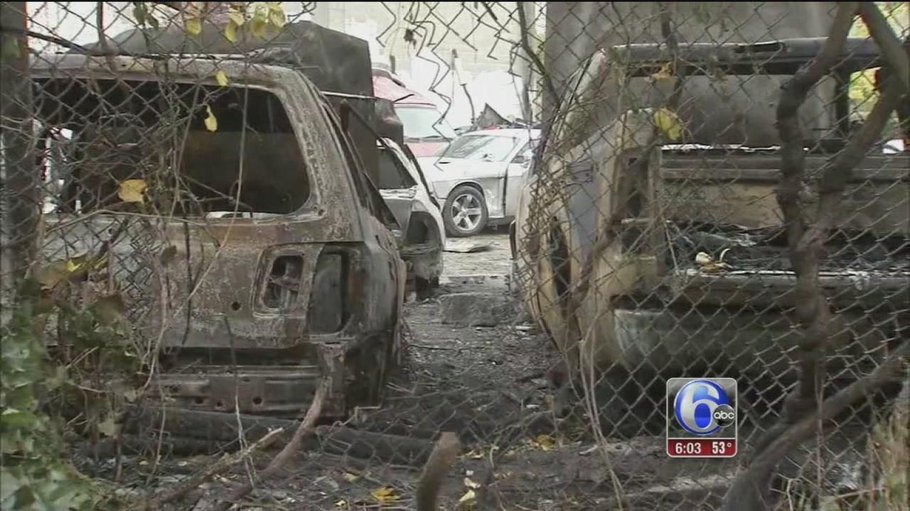 VIDEO: Police investigating string of arsons in West Phila.