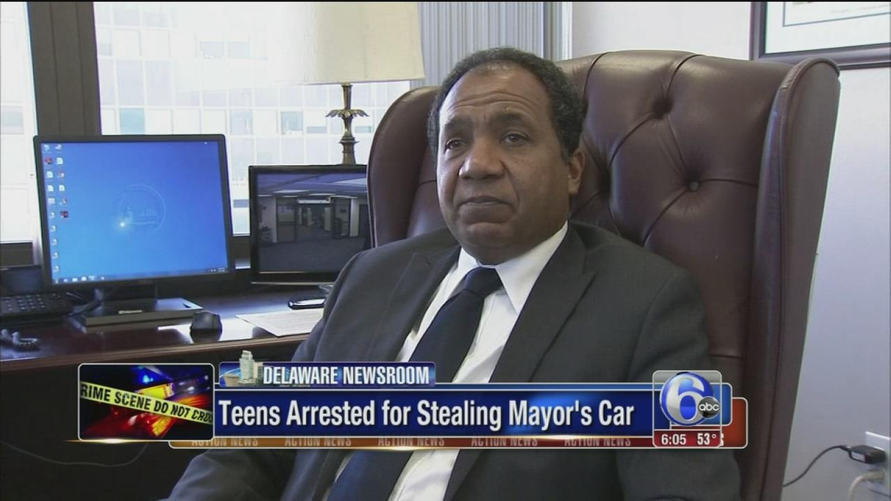 VIDEO: Mayors car stolen