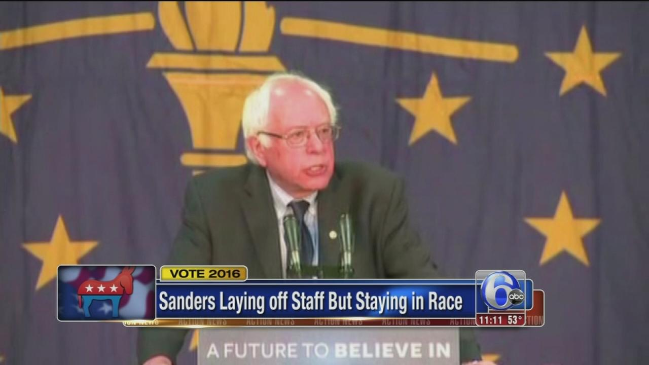 VIDEO: Sanders layoffs