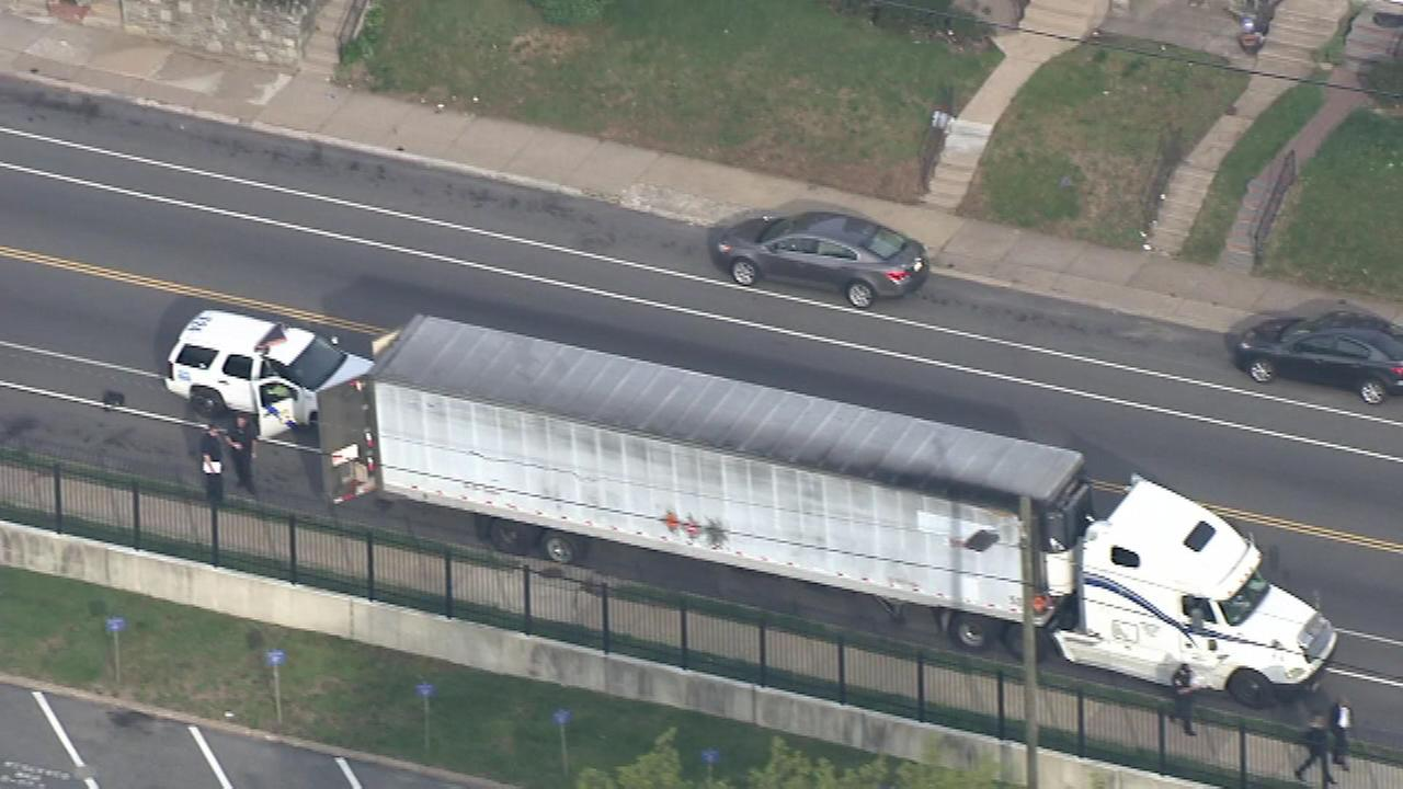 The unattended tractor-trailer was reported before 7:30 a.m. on April 28, 2016 Thursday in the 700 block of Tabor Avenue in Philadelphia's Lawncrest section.
