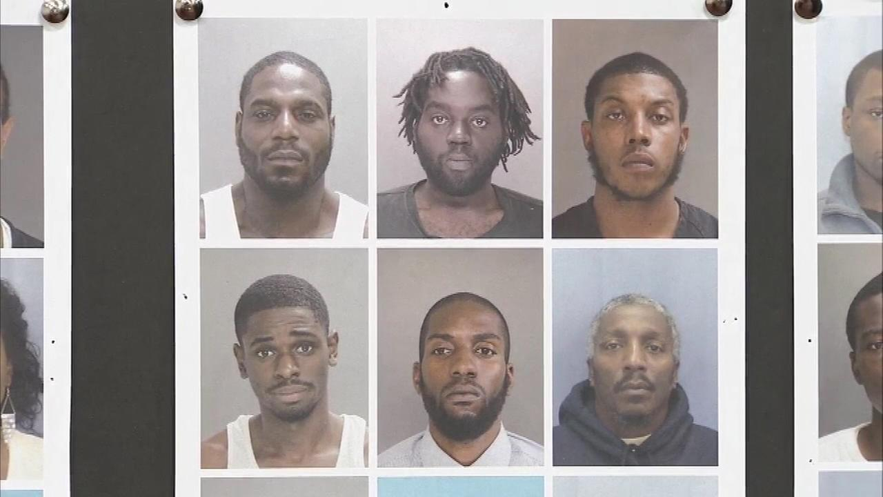 Pictured: Suspects charged after a drug sweep targeted those allegedly dealing drugs in Darby Borough.