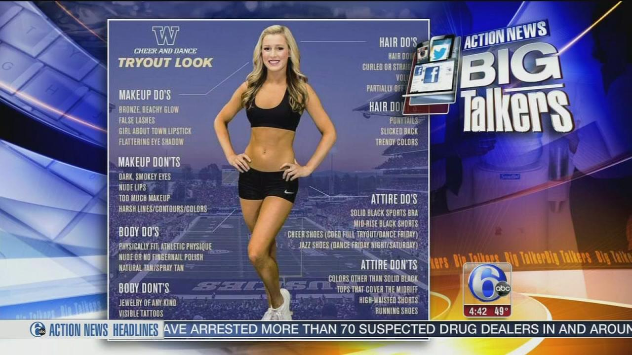 VIDEO: University of Washington cheerleading poster removed