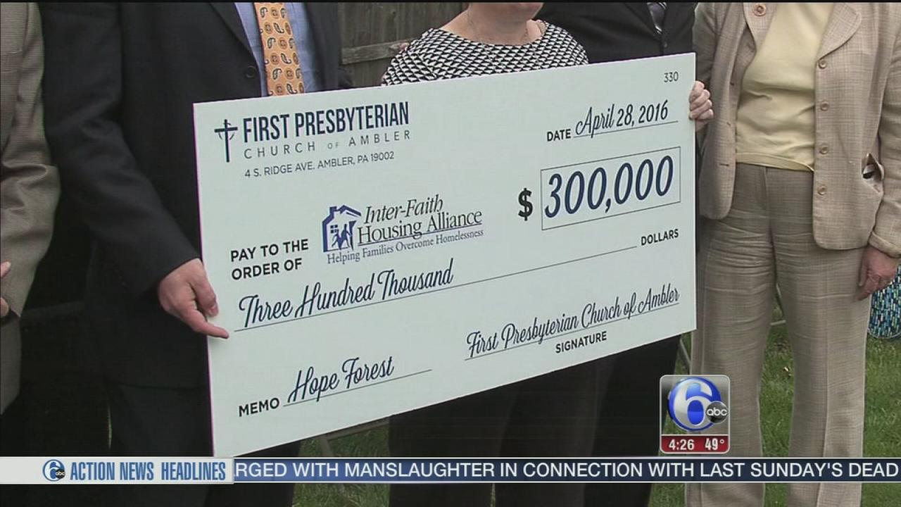 A big donation for transition housing
