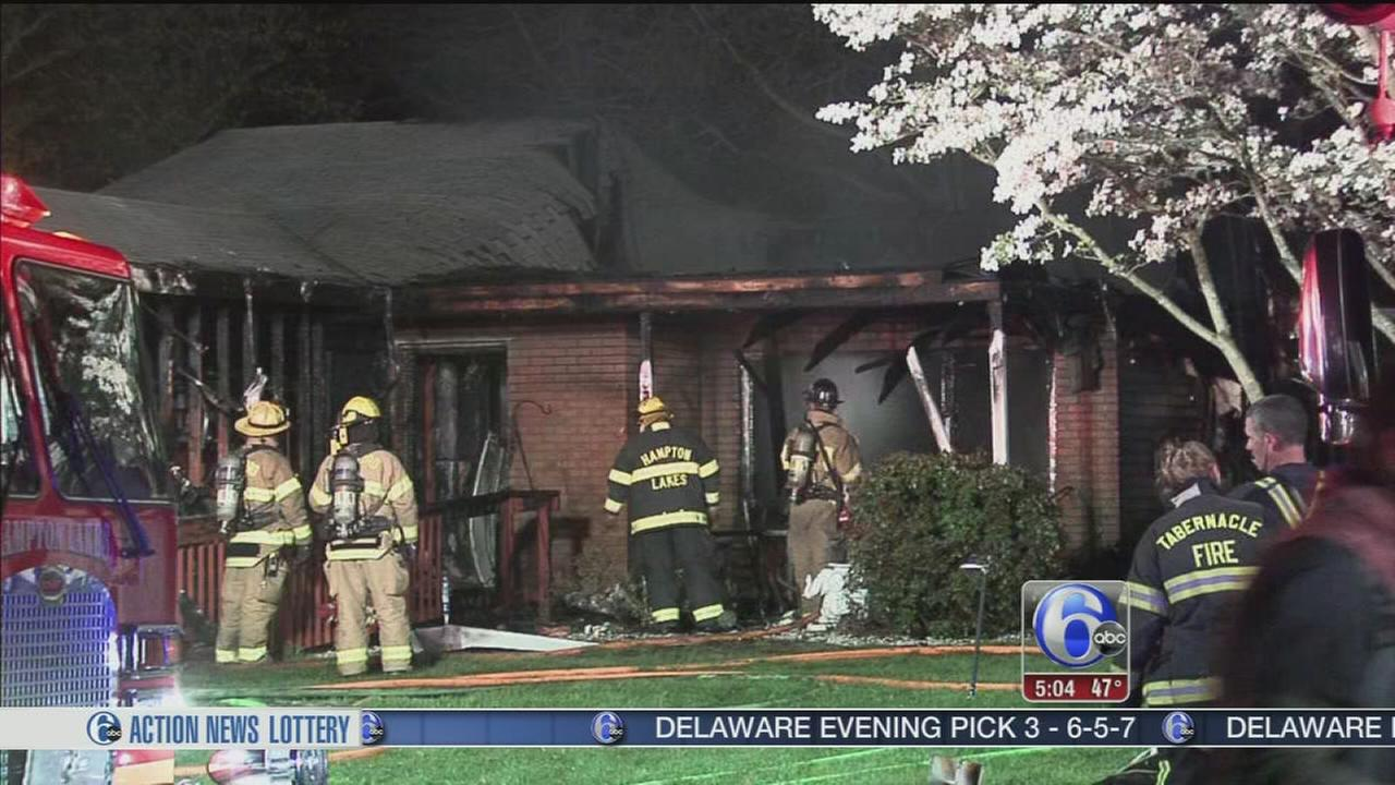 VIDEO: Blaze destroys house in Burlington County