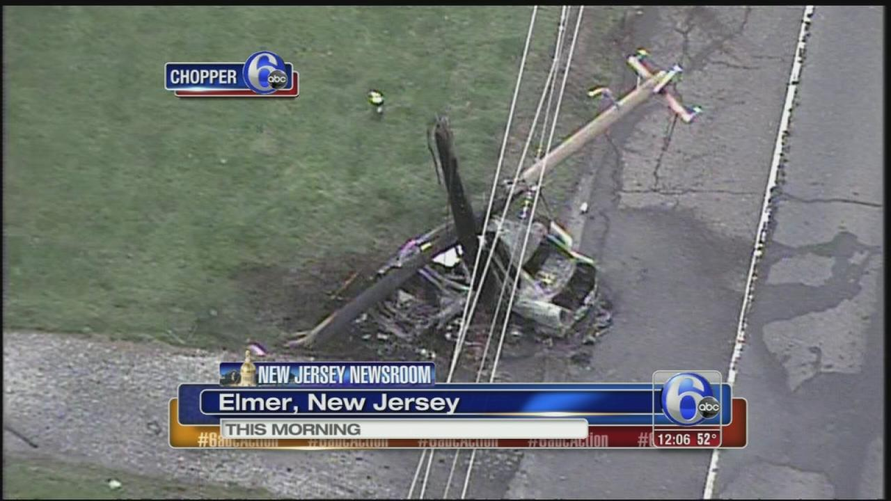 VIDEO: 1 dead in fiery crash in Elmer, NJ