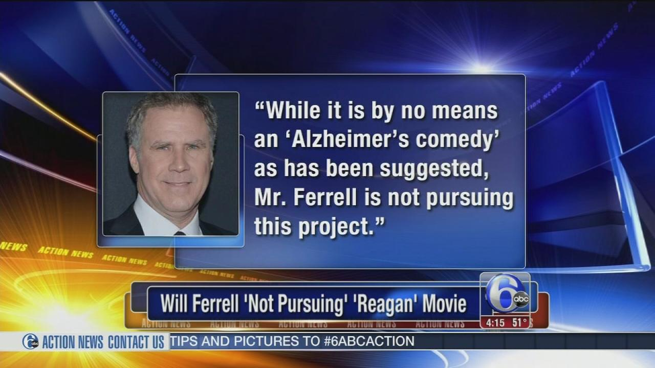 VIDEO: Will Ferrell backs out of Reagan comedy