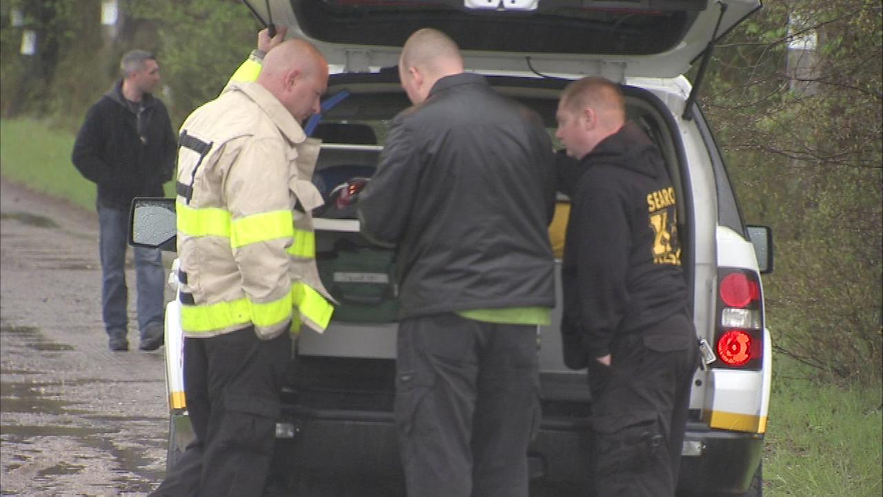 A search team found a body on Sunday morning in Southampton Twp., Burlington County.