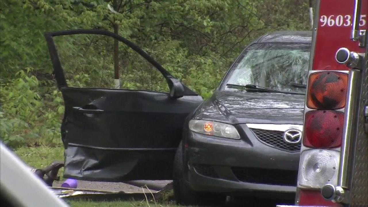 Police investigate a fatal crash in the East Falls section of Philadelphia.