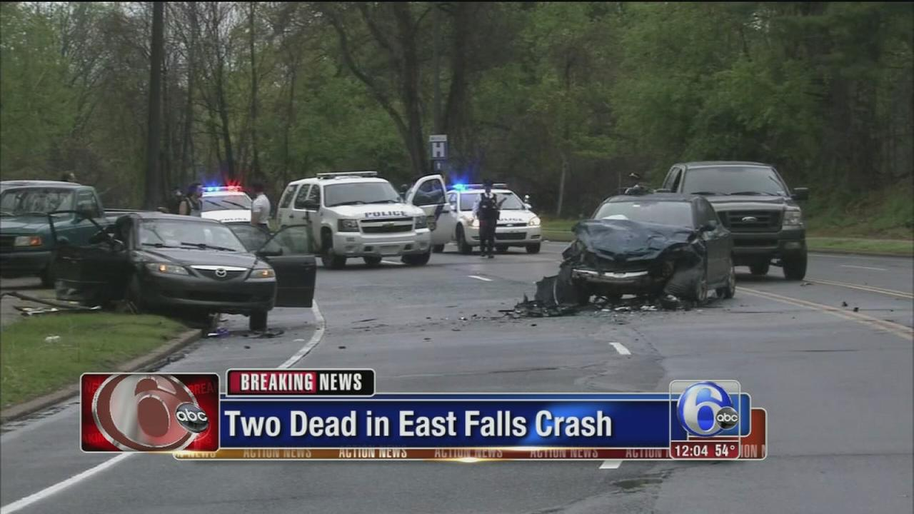 VIDEO: Police: Man dies after East Falls crash; boy also killed