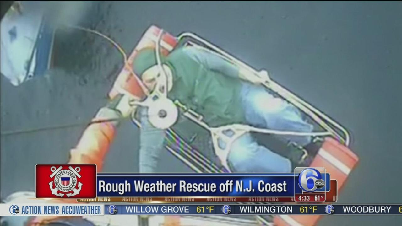 VIDEO: Coast Guard rescue off NJ coast