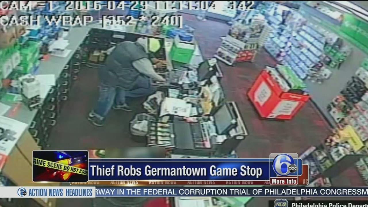 VIDEO: Thief robs Germantown GameStop