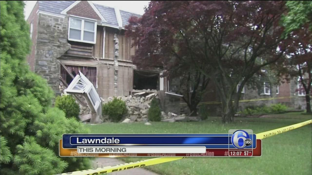 VIDEO: Part of home collapses in NE Phila.