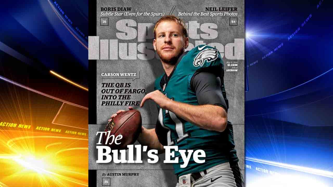 Eagles QB Carson Wentz on Sports Illustrated cover