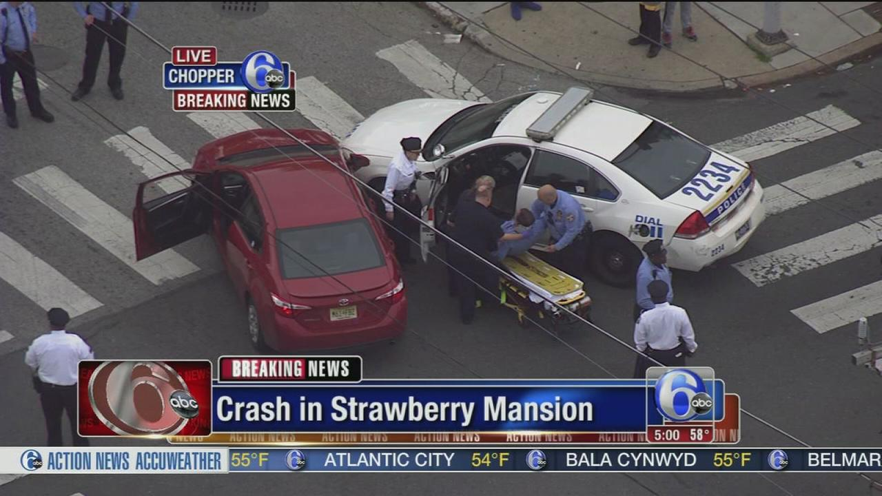 VIDEO: Officer injured in Strawberry Mansion