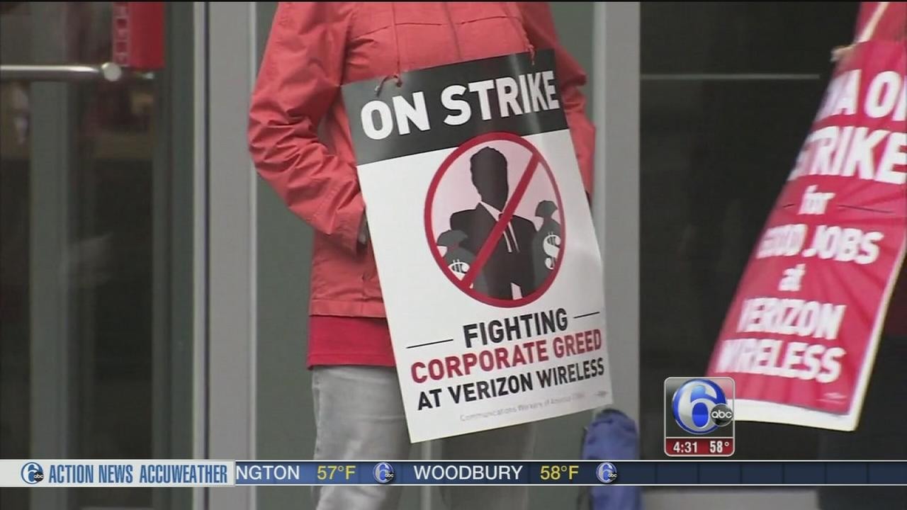 VIDEO: Workers lose benefits as Verizon strike continues