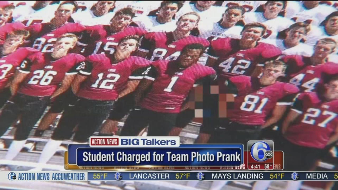 VIDEO: Student charged for team photo prank