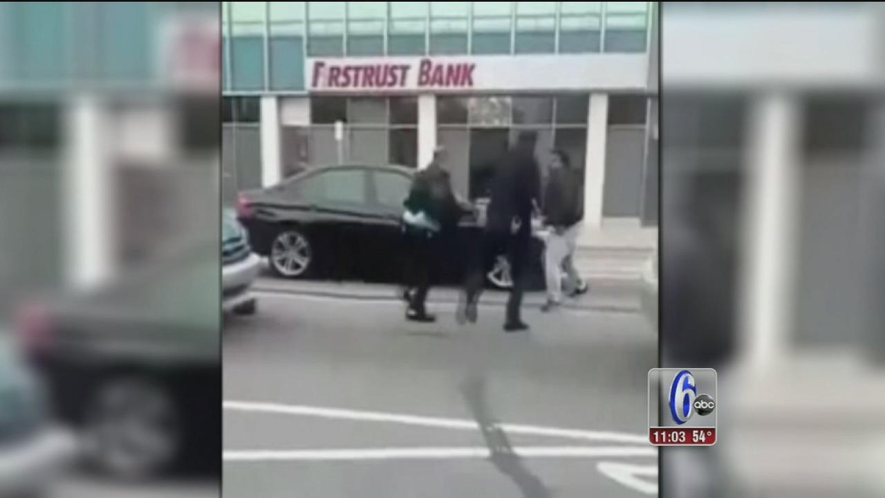 VIDEO: Cell phone video of attack on officers