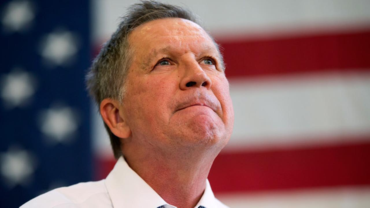 Republican presidential candidate, Ohio Gov. John Kasich, speaks during a town hall at Thomas farms Community Center Monday, April 25, 2016, in Rockville, Md.