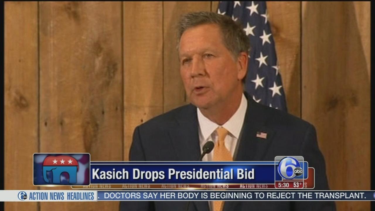 VIDEO: Kasich drops presidential bid