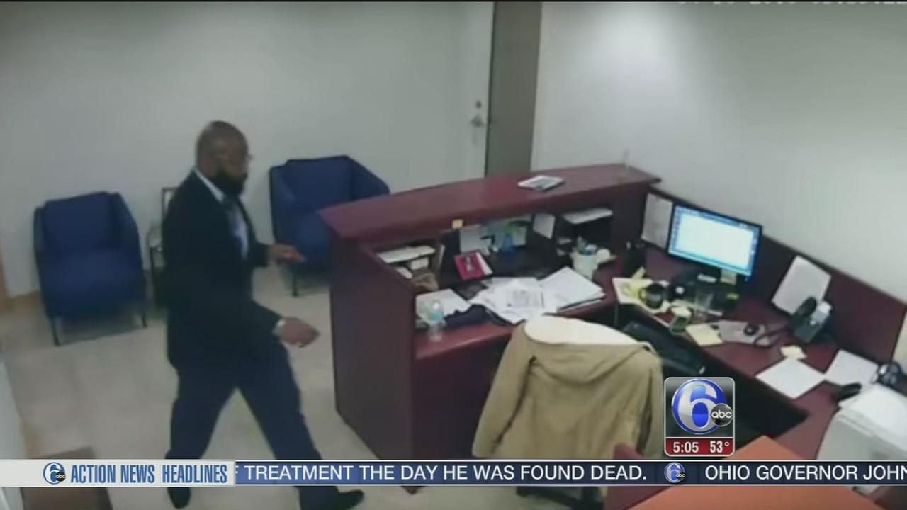 VIDEO: Brazen thief caught on camera in Center City office theft