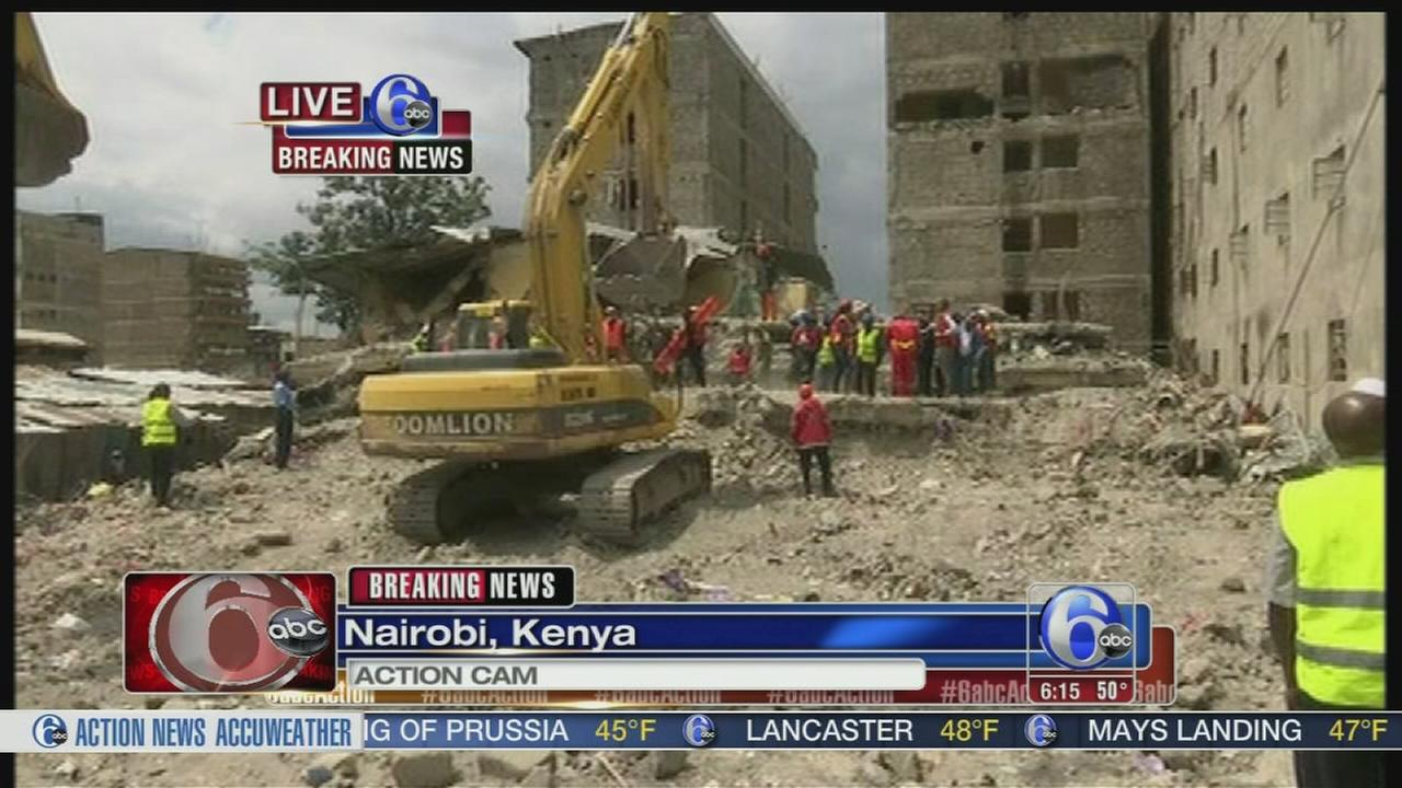VIDEO: Kenya: Woman found alive after 6 days in collapsed building