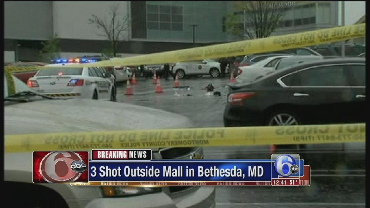 VIDEO: 3 shot outside mall in Bethesda