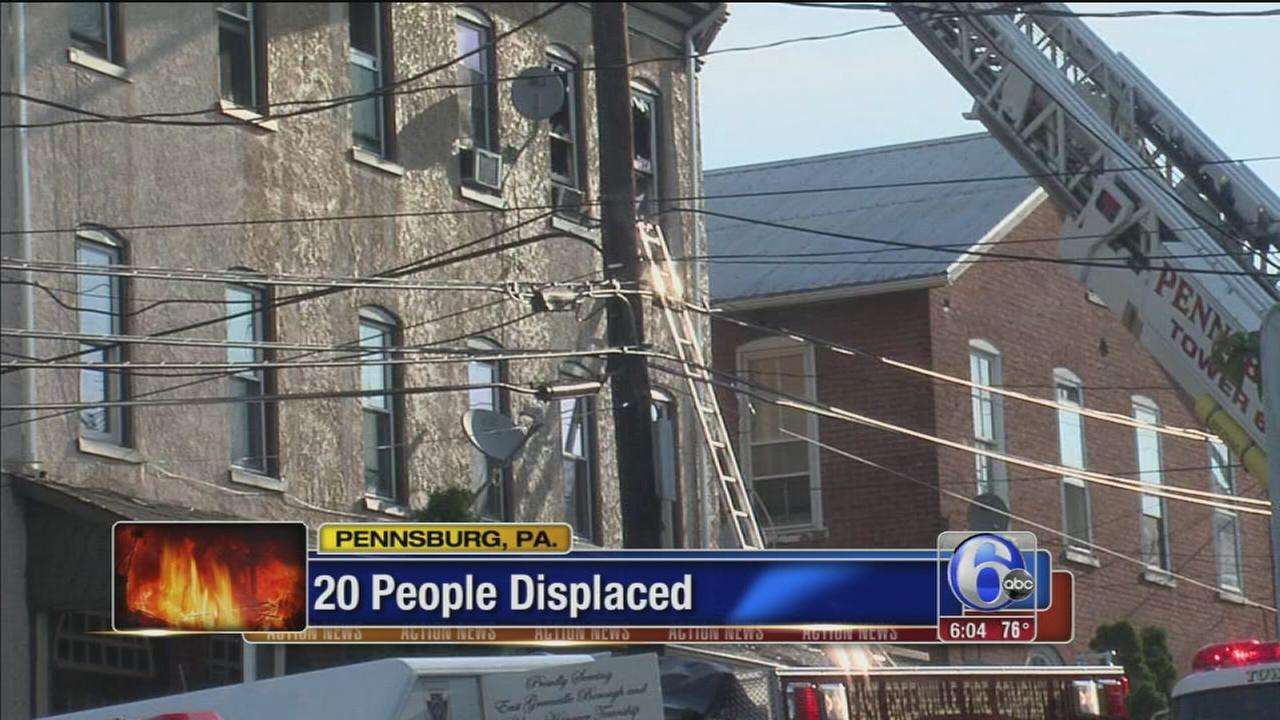 VIDEO: Several families displaced in Pennsburg fire