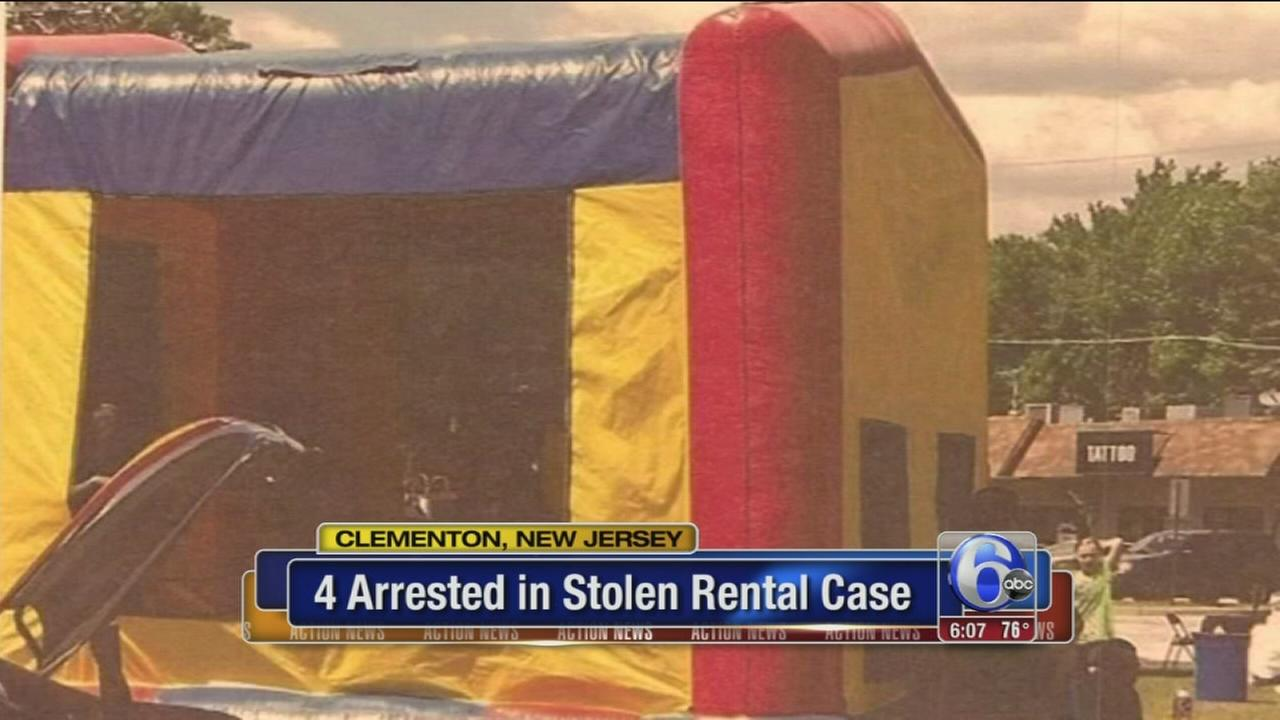 VIDEO: 4 arrests in NJ bounce house, dunk tank thefts